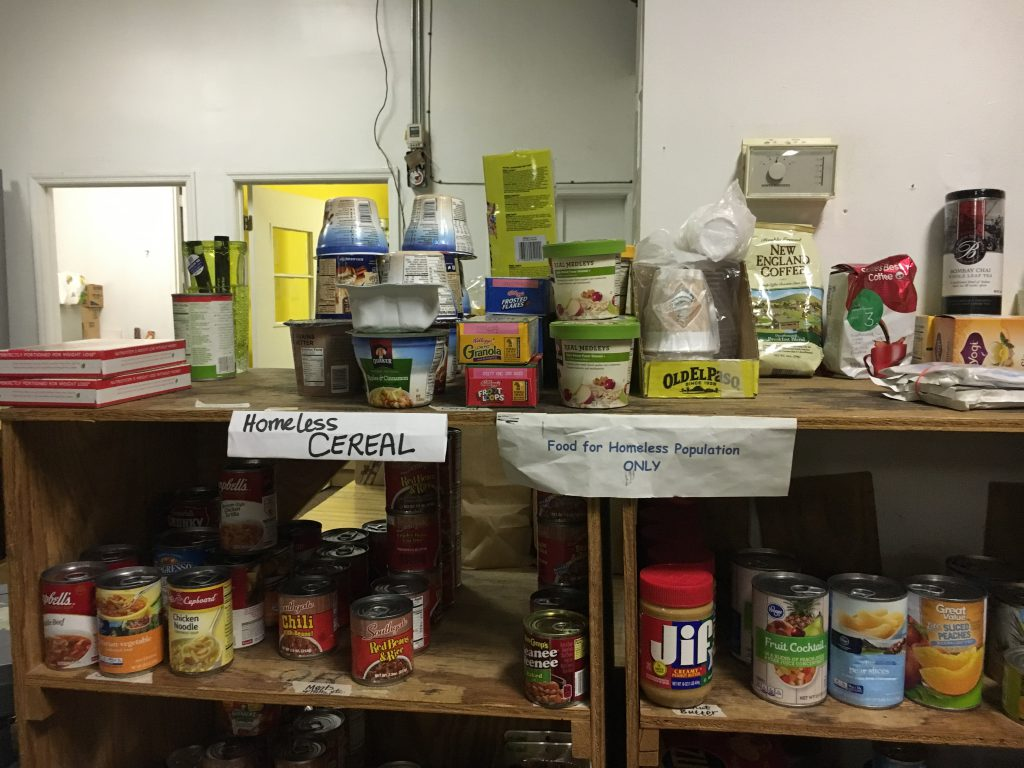 The AAEFB has a special section for food and other goods that can be used to help feed the homeless community.