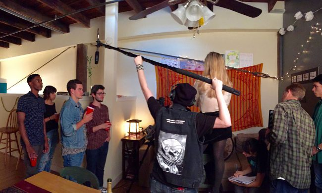UGA students on production set of student film, Cigarette Buds. (Photo: Mari Kasuya)